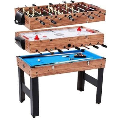 "Lancaster 48"" 3-in-1 Pool Billiard Slide Hockey Foosball Combo Arcade Game Table"