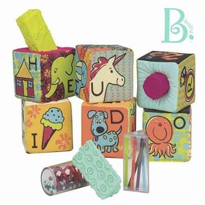 B. toys – aBc Block Party Baby Blocks