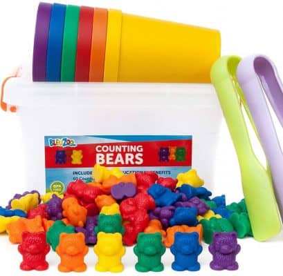 BleuZoo Rainbow Counting Bears