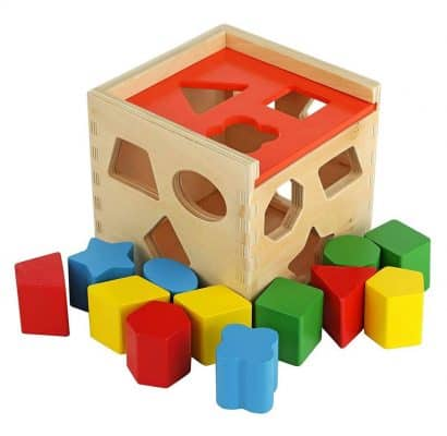 Colorful Shape Cube Sorting Puzzle