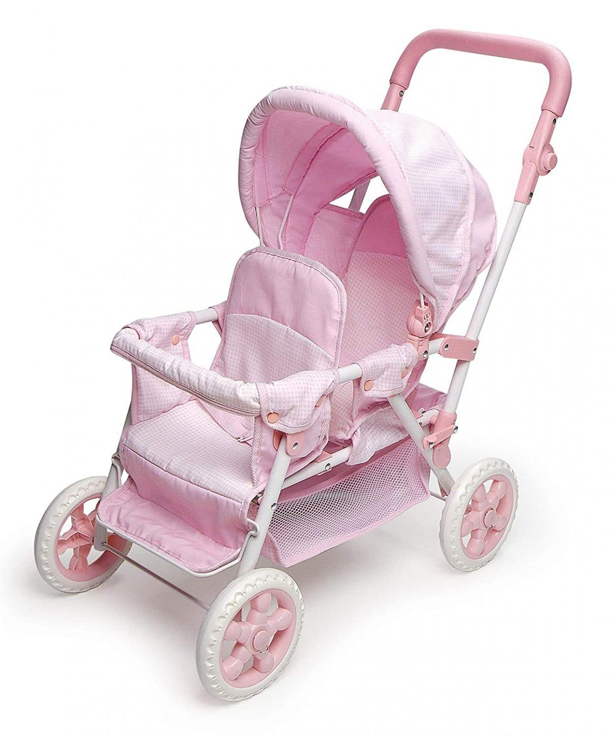 Deluxe Double Jogger Doll Twin Stroller Adjustable Handle High Quality