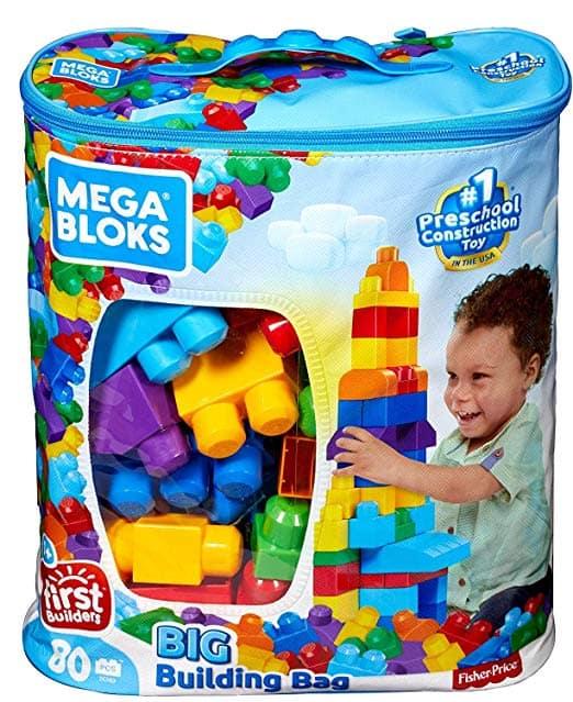 Fisher Price Mega Blocks ABC Learning Train Toddler Block Toys age 1-5 60 Piece
