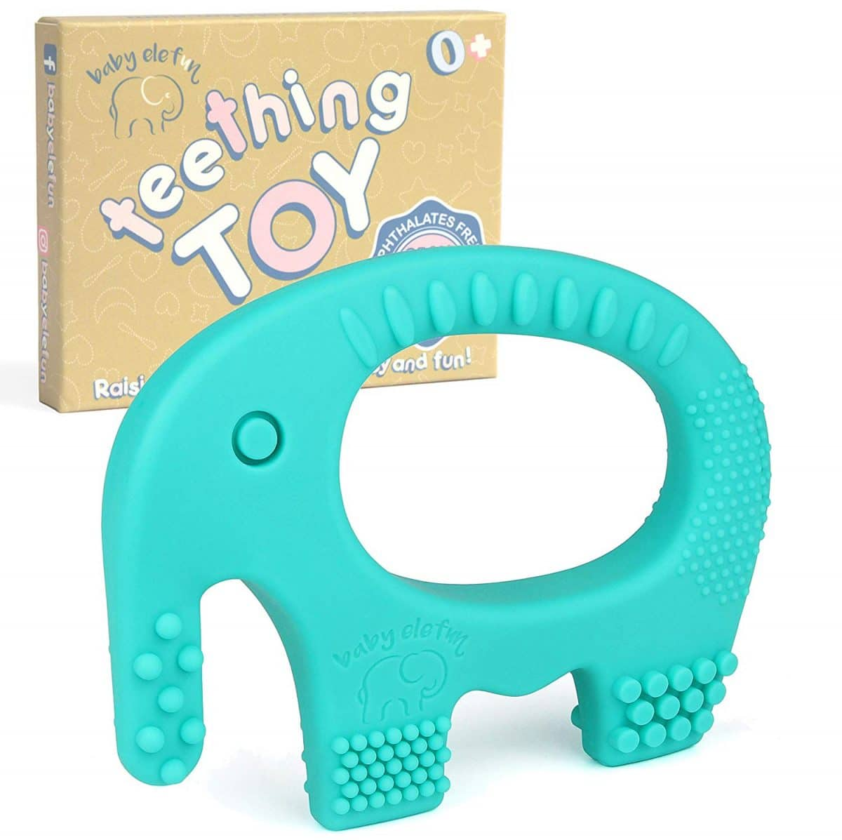 Highly Effective Pain Relief Cookie Teether Chew Beaded with Pacifier Clip Soft and Highly Recommended by Moms Baby Teething Toys FDA Compliant BPA /& Phthalates Free Natural Organic Freezer