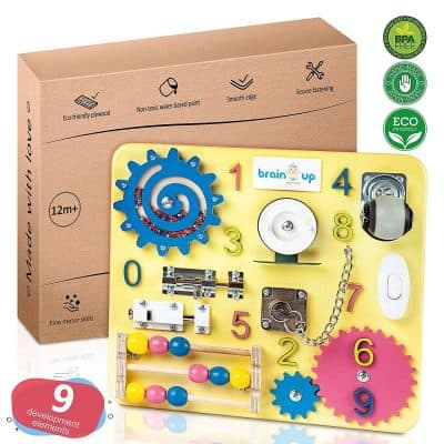 Busy Board Toddlers Sensory Activity Board for Toddlers