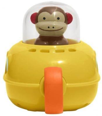 Skip Hop Pull & Go Monkey Submarine: Baby Bath Toy