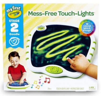 Crayola Touch Lights Musical Doodle Board, Toddler Toy