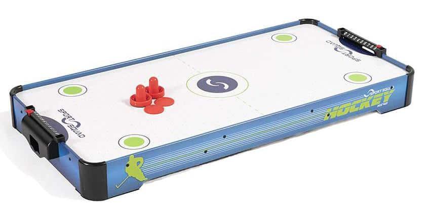 "Franklin Sports 48/"" Electronic Scoreboard Straight Leg Air Hockey Table NEW"
