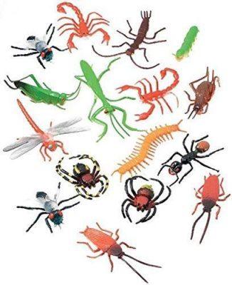 Darice Long Plastic Bugs and Arachnids