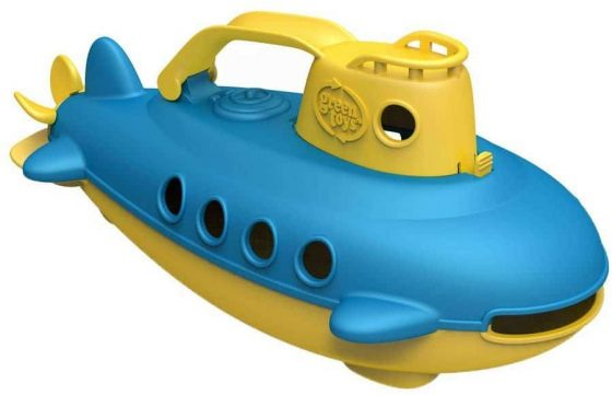 Green Toys Submarine in Yellow & Blue