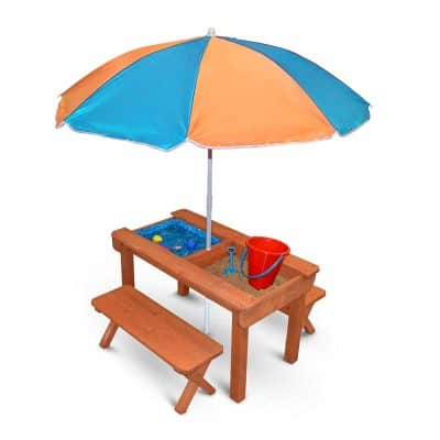 Back Bay Play Kids Wooden Convertible Picnic Table
