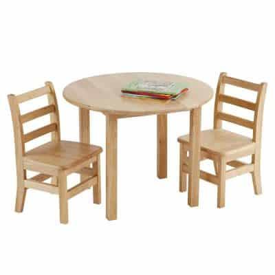 ECR4Kids 30-inch Hardwood kids picnic table set