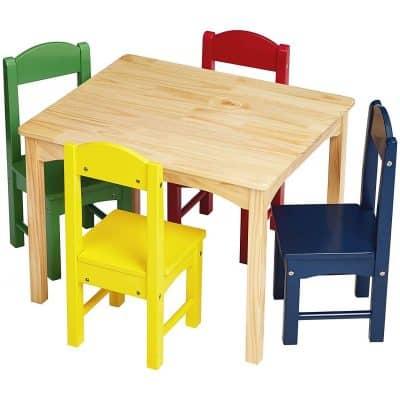 AmazonBasics Kids Wood Table Set