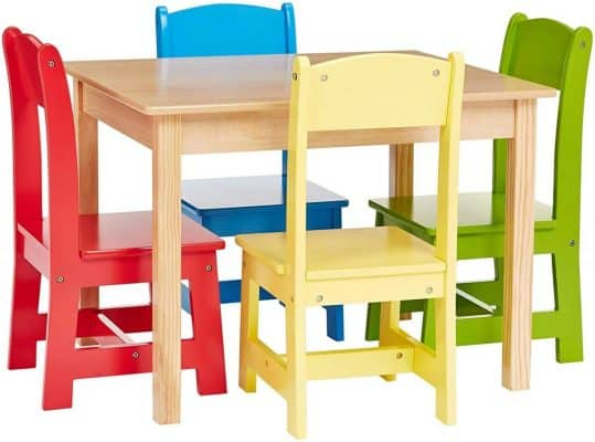 Phoenix Home Fermo Kids Natural Wood Table Set