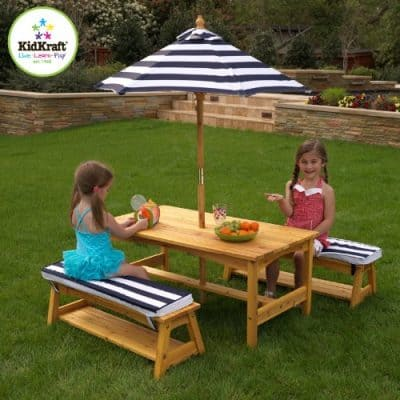 KidKraft 106 Kids Outdoor Table and Chairs