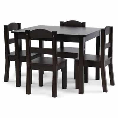 Tot Tutors Espresso Collection Table and Chair Set