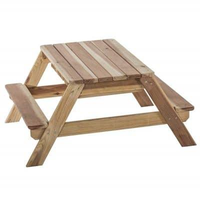 Jack & June Redwood Convertible Picnic Table Set