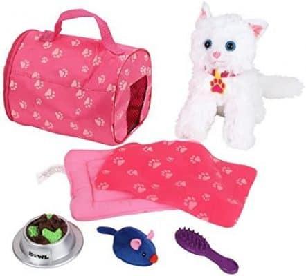 Click N' Play 8 Piece Doll Kitten Set