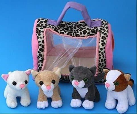 Animal House Plush Kitty Cat Carrier