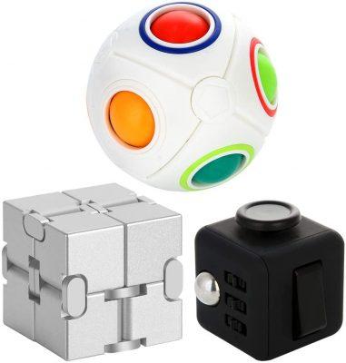 MENGDUO 3 Packs Fidget Finger Toys