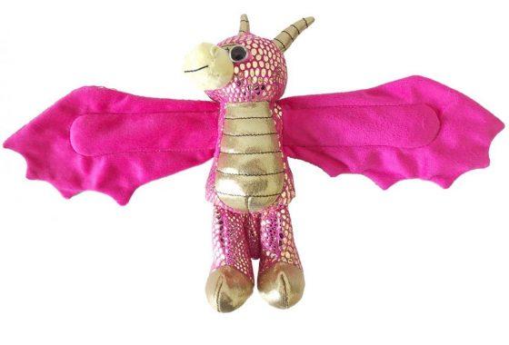 Wild Republic Huggers Golden Dragon Plush Toy