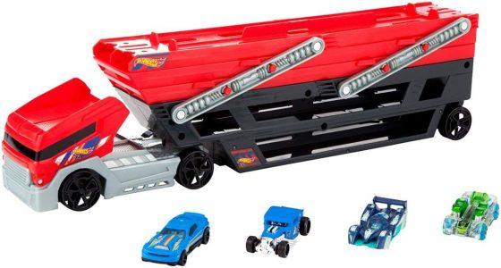 Mega Hauler and 4 Cars Set