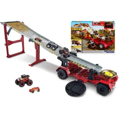 Monster Trucks Downhill Race and Go Playset
