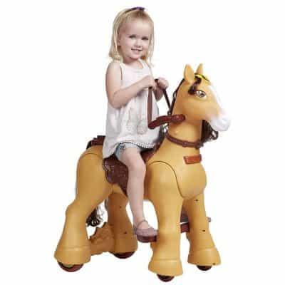ECR4Kids Motorized Ride-On Walking Toy Horse
