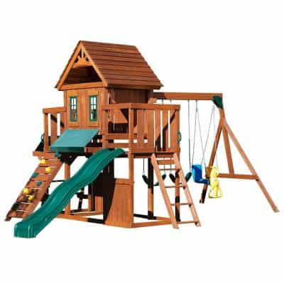 Winchester Wood Complete Play Set with Two Swings