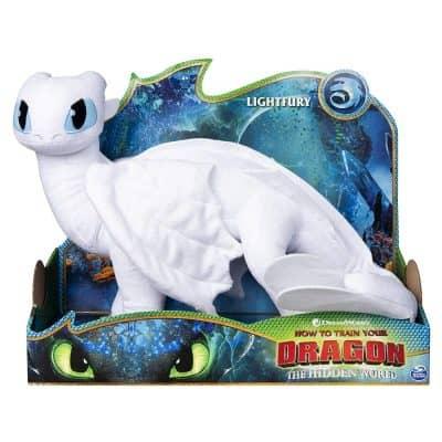 Dreamworks Dragons Light Fury Deluxe Plush Dragon