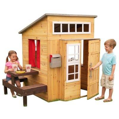 KidKraft Modern Outdoor Wooden Playhouse