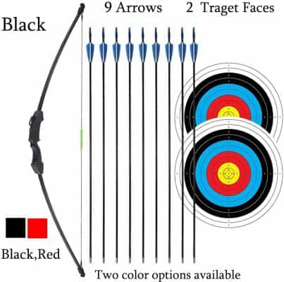 iMay 45 inch Recurve Bow and Arrows Set