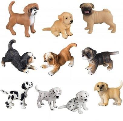 Toymany 10pc Dog Figurines Playset