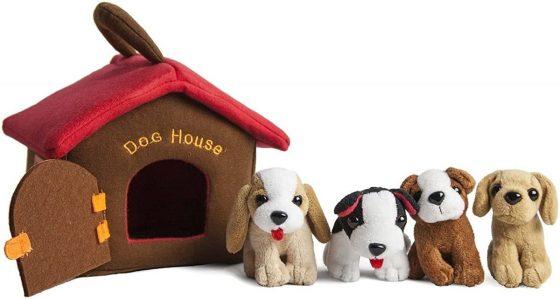 Animal House Plush Puppy Dog House