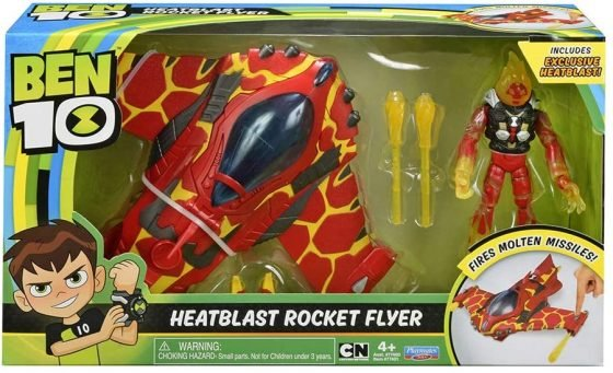 Ben 10 Heatblast Rocket Flyer With Figure