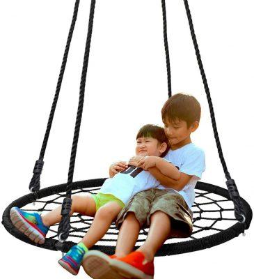 """Super Deal 40"""" Spider Web Tree Swing Net"""