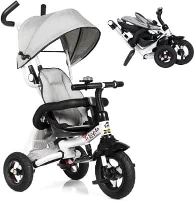 Costzon 6-in-1 Foldable Steer Stroller