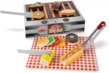 Melissa and Doug Wooden Grill and Serve BBQ Set