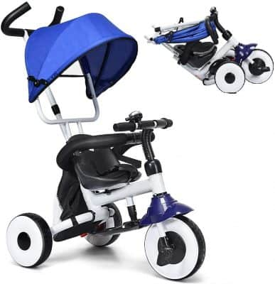 Baby Joy 4-in-1 Kids Folding Tricycle