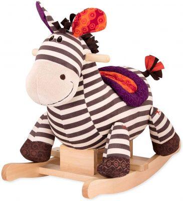 Kazoo the Wooden Rocking Zebra