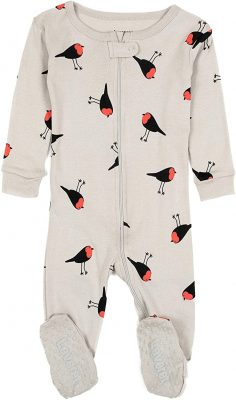 Leveret Baby Girls Footed Pajamas