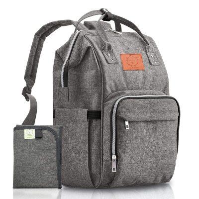 KeaBabies Large Diaper Bag Backpack