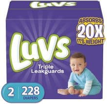 Luvs Leakguards Disposable Diapers