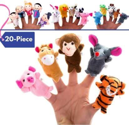 BETTERLINE Finger Puppet Set (20-piece)