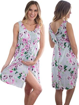 Baby Be Mine 3 in 1 Labor/Delivery/Nursing Hospital Gown