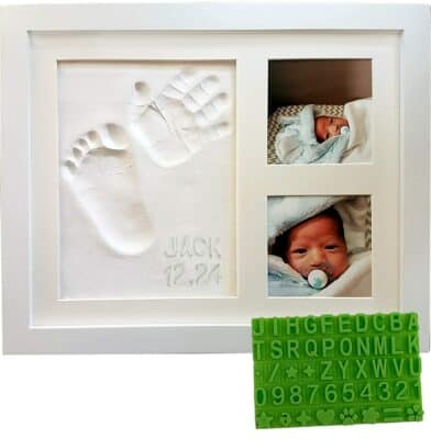 Baby Mushroom Handprint & Footprint Keepsake Photo Frame Kit