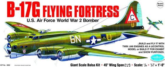 Guillow's Boeing B-17G Flying Fortress Model Kit