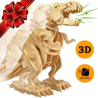 T-Rex Dinosaur 3D Puzzle – Walking Wooden Robot