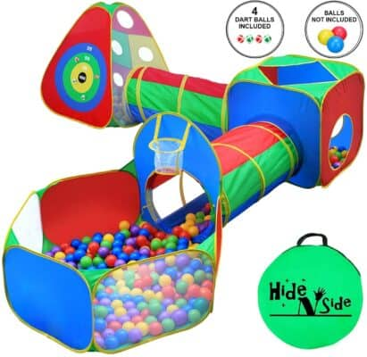 Hide N Side Five Piece Kids Ball Pit, Tents, and Tunnels