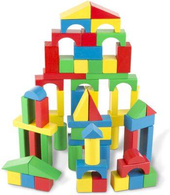 Melissa & Doug 100-Piece Wood Block Set