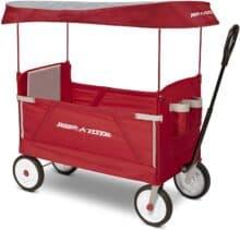 Radio Flyer 3-In-1 EZ Folding Wagon with Canopy
